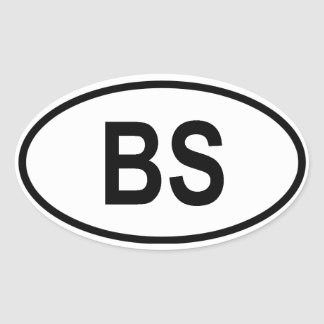 "The Bahamas ""BS"" Oval Stickers"