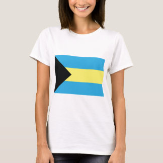 The Bahamas Flag in Black Aquamarine and Yellow T-Shirt