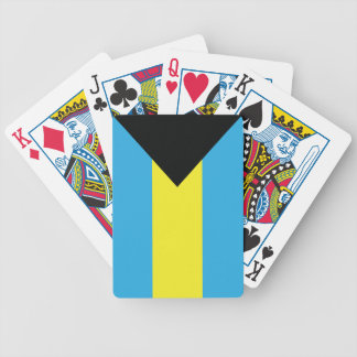 The Bahamas Flag in Yellow Aquamarine and Black Bicycle Playing Cards
