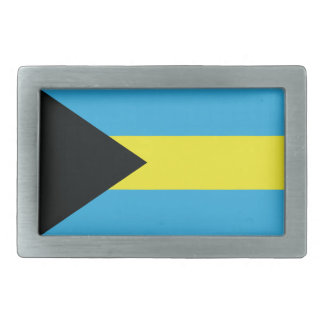 The Bahamas Flag Rectangular Belt Buckle