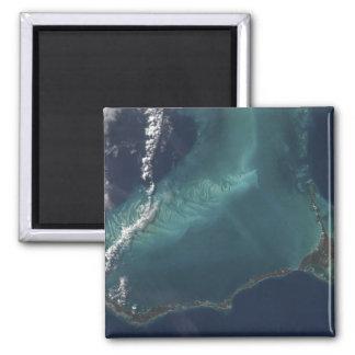 The Bahamas' lengthy narrow Eleuthra Island 2 Inch Square Magnet