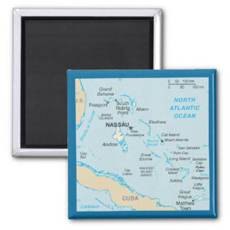 The Bahamas Map Magnet