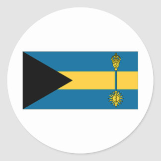 The Bahamas Prime Minister Flag Classic Round Sticker