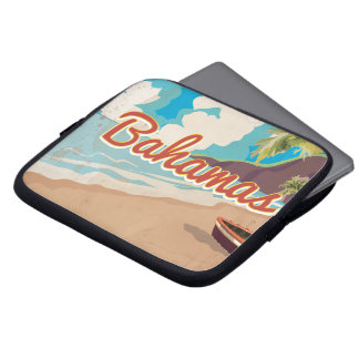 The Bahamas vintage Travel Poster. Laptop Sleeve
