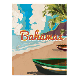 The Bahamas vintage travel print Postcard