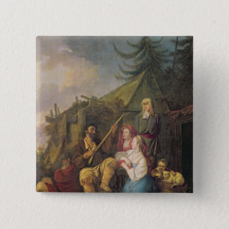 The Balalaika Player, 1764 Pinback Button