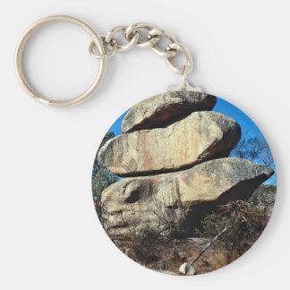 The Balancing Rocks, Harare, Zimbabwe rock formati Key Chains