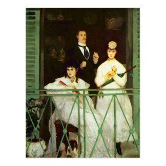 The Balcony by Edouard Manet Postcard