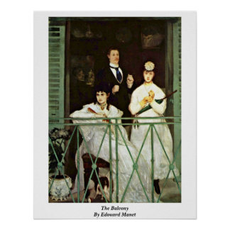 The Balcony By Edouard Manet Poster