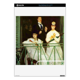 The Balcony by Edouard Manet PS3 Slim Decals