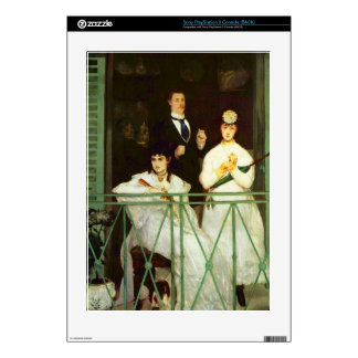 The Balcony by Edouard Manet Skin For The PS3 Console