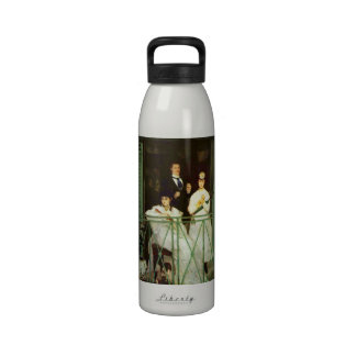 The Balcony by Edouard Manet Reusable Water Bottles