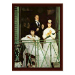 The Balcony By Manet Edouard Post Cards