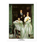 The Balcony By Manet Edouard Postcard