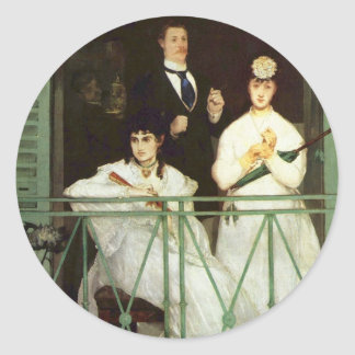 The Balcony - Edouard Manet Classic Round Sticker