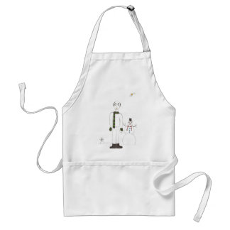 The bald Creepy man Adult Apron