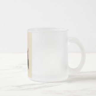 The Bald Eagle (Haliaetos leucocephalus) Frosted Glass Coffee Mug