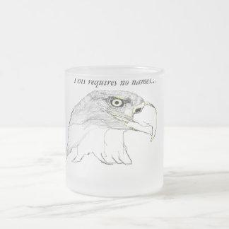 The Bald Eagle 10 Oz Frosted Glass Coffee Mug