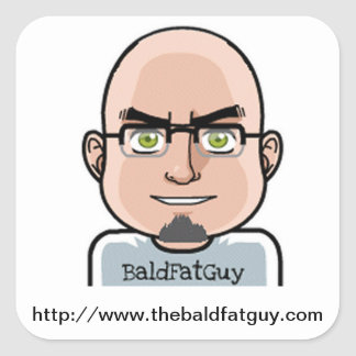 The Bald Fat Guy Stickers