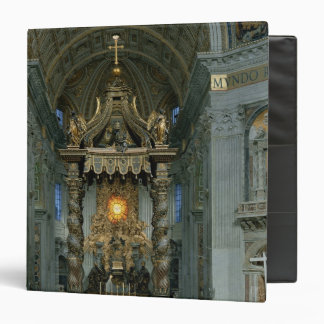 The Baldacchino, the high altar and the chair Binder