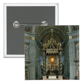 The Baldacchino, the high altar and the chair 2 Inch Square Button
