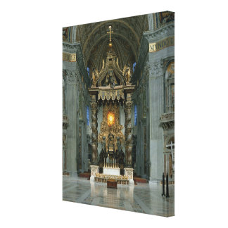 The Baldacchino, the high altar and the chair Canvas Print