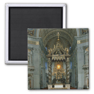 The Baldacchino, the high altar and the chair Magnet