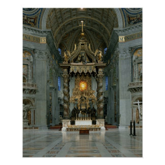 The Baldacchino, the high altar and the chair Poster