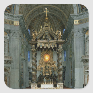 The Baldacchino, the high altar and the chair Square Sticker