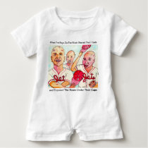 The Baldy Bean Kids of Red Hook Brooklyn Baby Romper