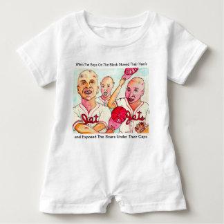 The Baldy Bean Kids of Red Hook Brooklyn Baby Romper
