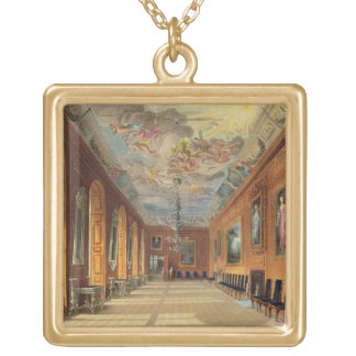 The Ball Room, Windsor Castle, from 'Royal Residen Gold Plated Necklace
