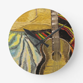 """The Ballad"" Artwork by Carter L. Shepard"" Round Clock"