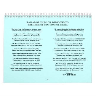 THE BALLAD OF JIM FALON WALL CALENDAR