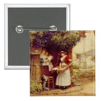 The Ballad Seller, 1902 (oil on board) Button