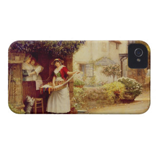 The Ballad Seller, 1902 (oil on board) iPhone 4 Cases