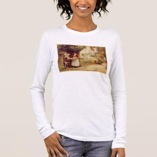 The Ballad Seller, 1902 (oil on board) Long Sleeve T-Shirt