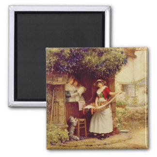 The Ballad Seller, 1902 (oil on board) Magnet