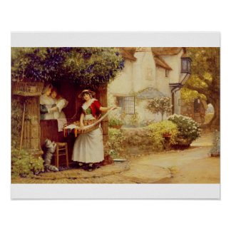The Ballad Seller, 1902 (oil on board) Poster