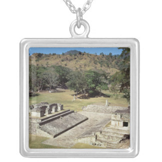 The Ballcourt in the Main Square, Classic Period Silver Plated Necklace
