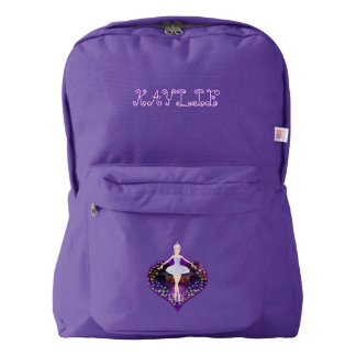 The ballerina butterfly princess american apparel™ backpack