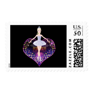 The ballerina butterfly princess postage