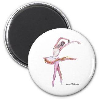 The ballerina dance art magnet