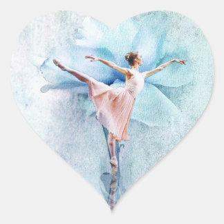 The Ballerina Heart Sticker