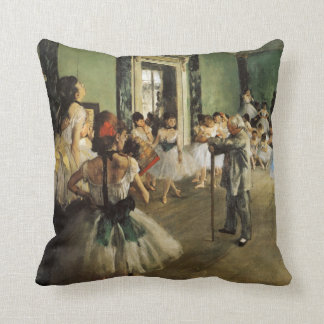 The Ballet Class, 1874 Edgar Degas Throw Pillow