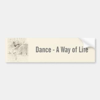 The Ballet Dancer, Toulouse-Lautrec Car Bumper Sticker