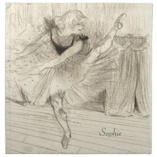 The Ballet Dancer, Toulouse-lautrec Cloth Napkin at Zazzle