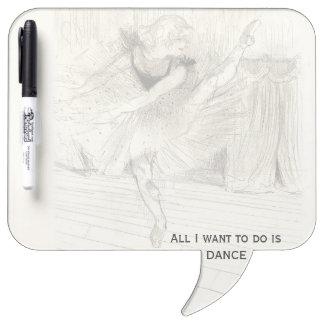The Ballet Dancer, Toulouse-Lautrec Dry-Erase Whiteboard