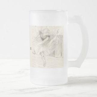 The Ballet Dancer, Toulouse-Lautrec Frosted Glass Beer Mug