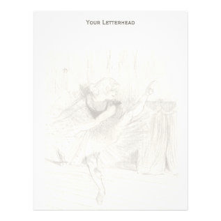 The Ballet Dancer, Toulouse-lautrec Letterhead at Zazzle